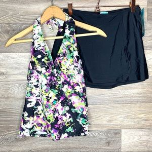 NWT Assets by Spanx Full Coverage Swimsuit Set